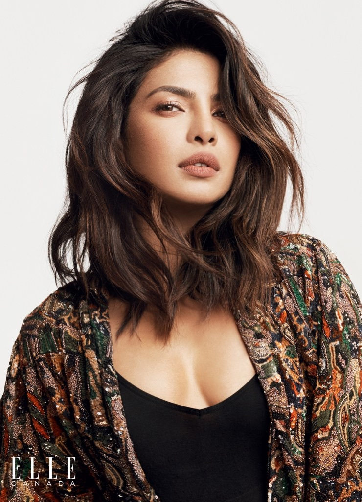 Priyanka Chopra poses in Saint Laurent shirt and Uniqlo camisole