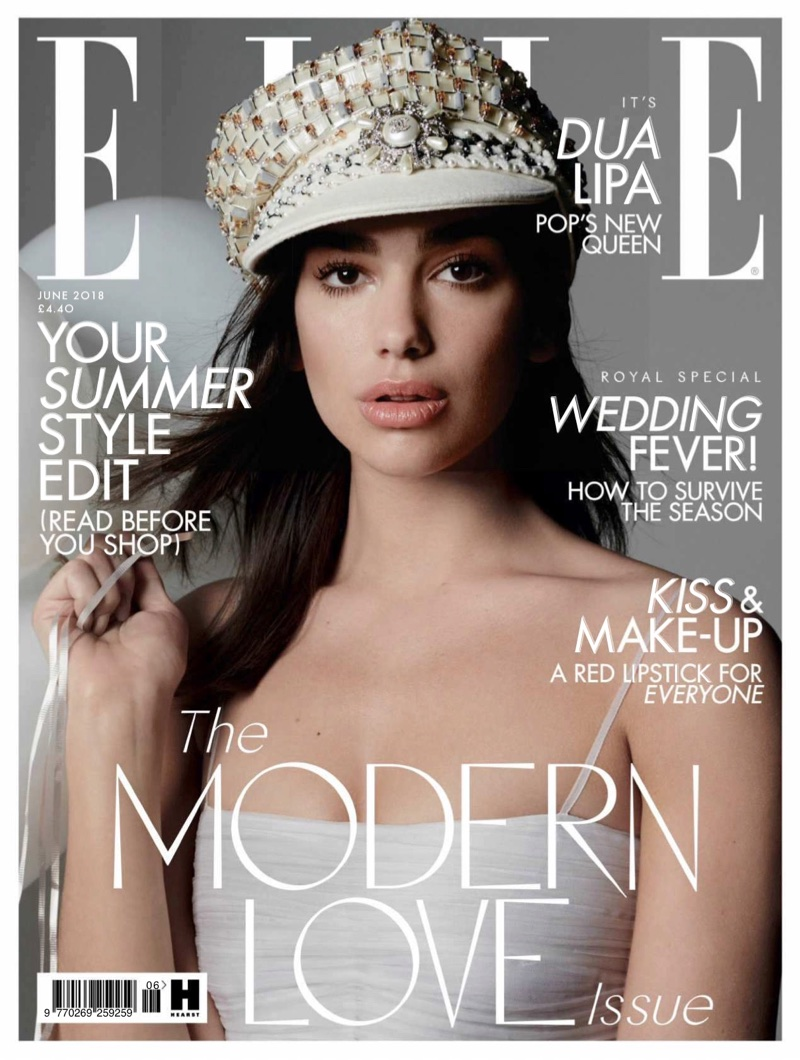 Dua Lipa on ELLE UK June 2018 Cover