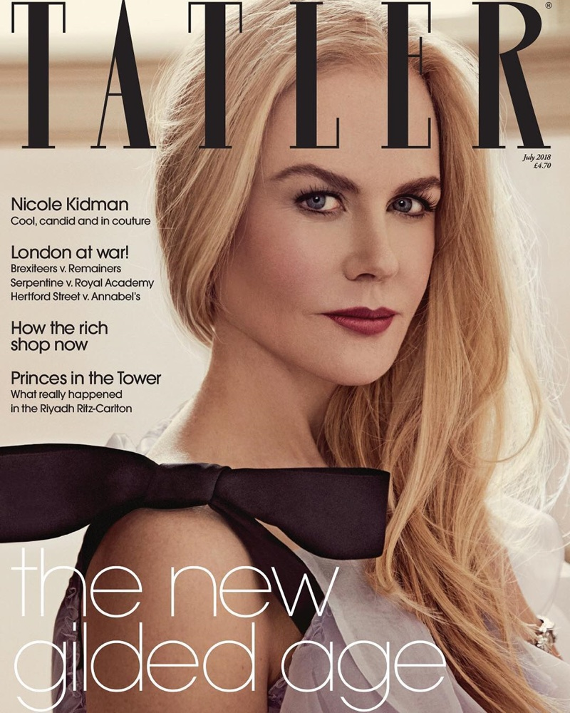 Nicole Kidman on Tatler UK July 2018 Cover