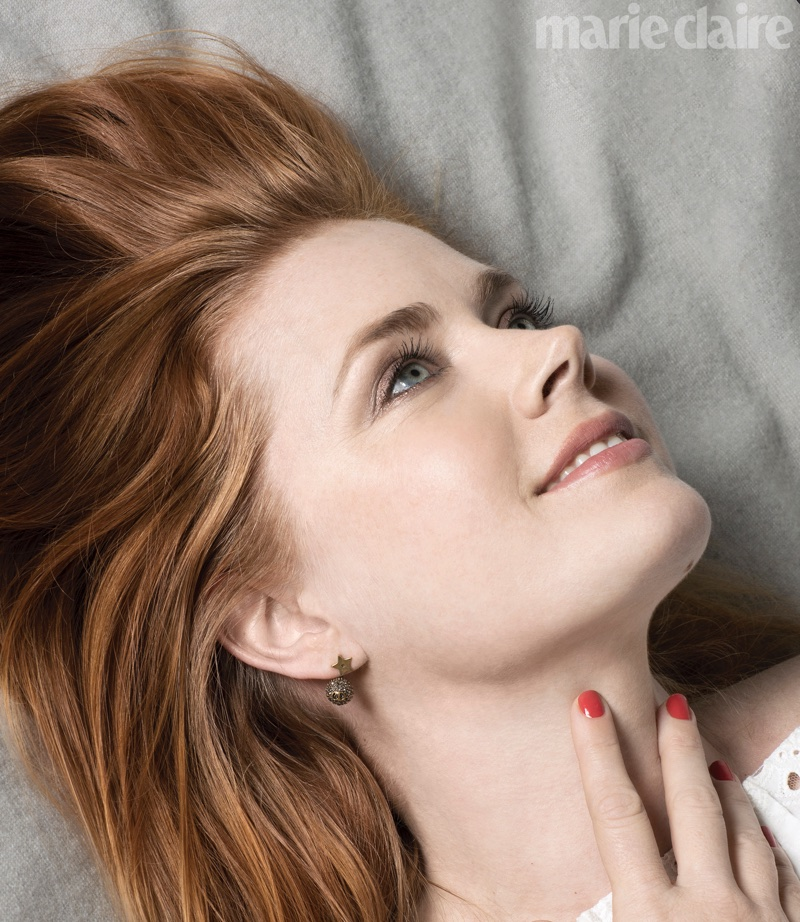 Ready for her closeup, Amy Adams flashes a smile