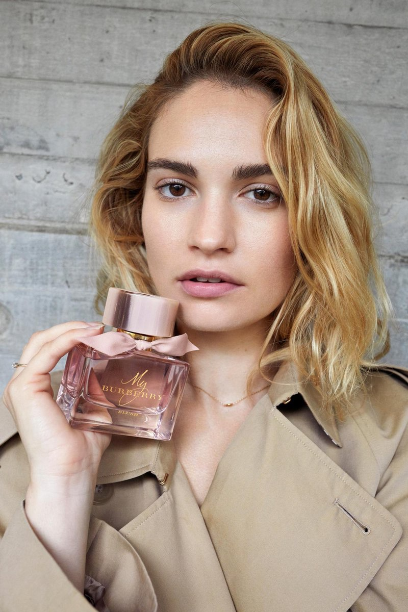 Juergen Teller photographs Lily James for My Burberry fragrance campaign