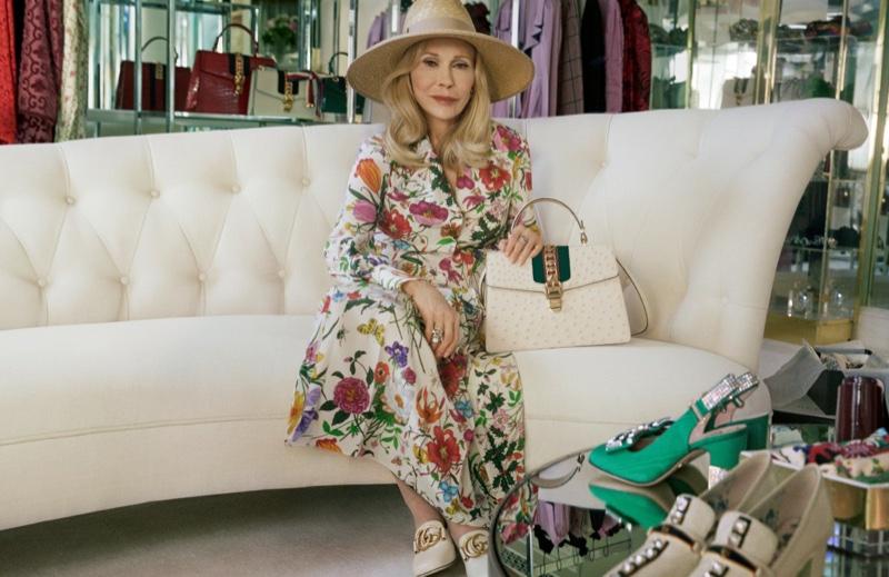 Faye Dunaway stars in Gucci Sylvie handbag campaign