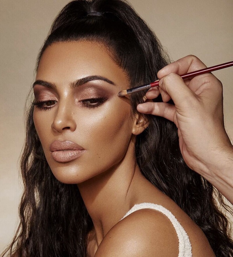 Kim Kardashian poses for KKW Beauty Classic Collection campaign