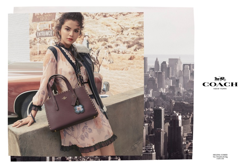 Singer Selena Gomez appears in Coach's fall-winter 2018 campaign