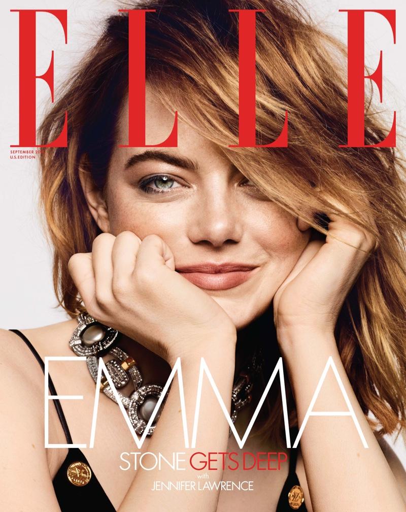 Emma Stone on ELLE US September 2018 Cover