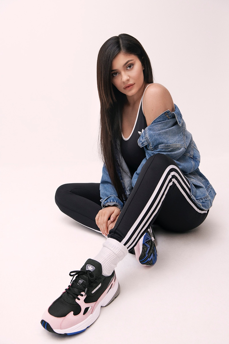 Kylie Jenner fronts adidas Falcon sneaker campaign