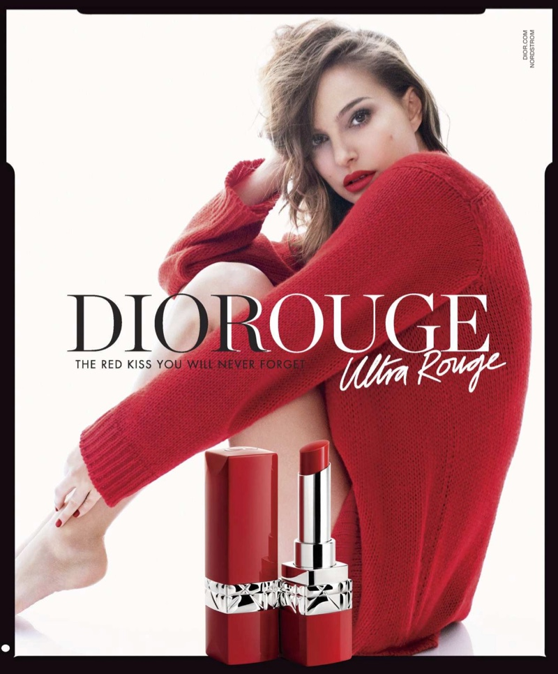 Natalie Portman stars in Dior Rouge Ultra Rouge Lipstick campaign