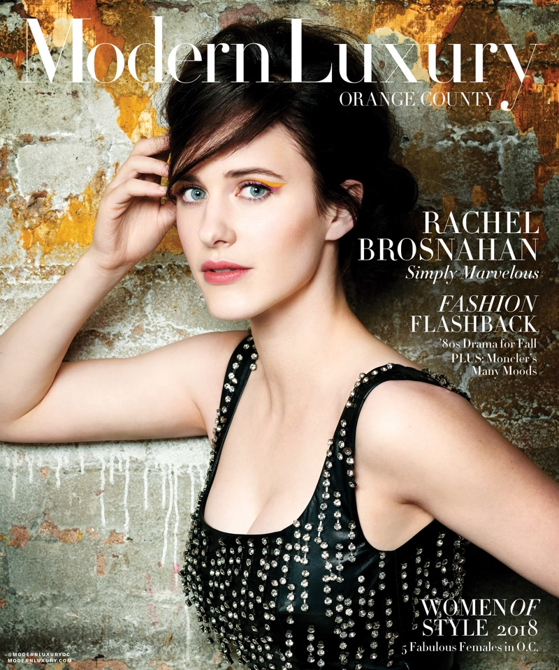 Rachel Brosnahan on Modern Luxury Orange County September 2018 Cover