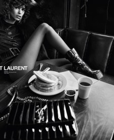 bfbe9059adb Mica Arganaraz Exudes Cool in Saint Laurent Winter 2018 Campaign