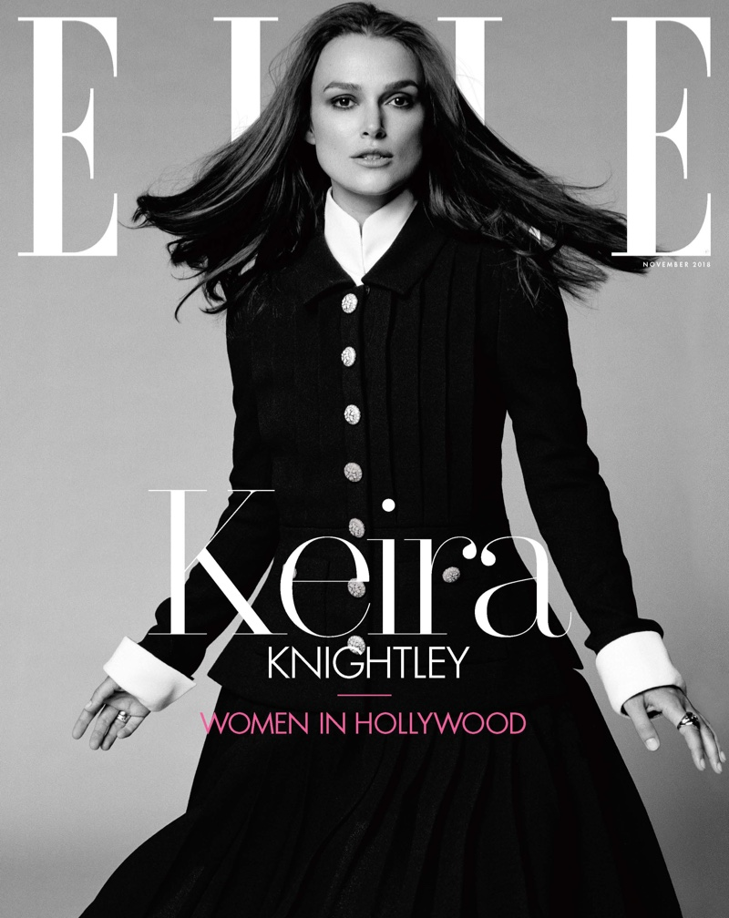 Keira Knightley on ELLE US November 2018 Cover