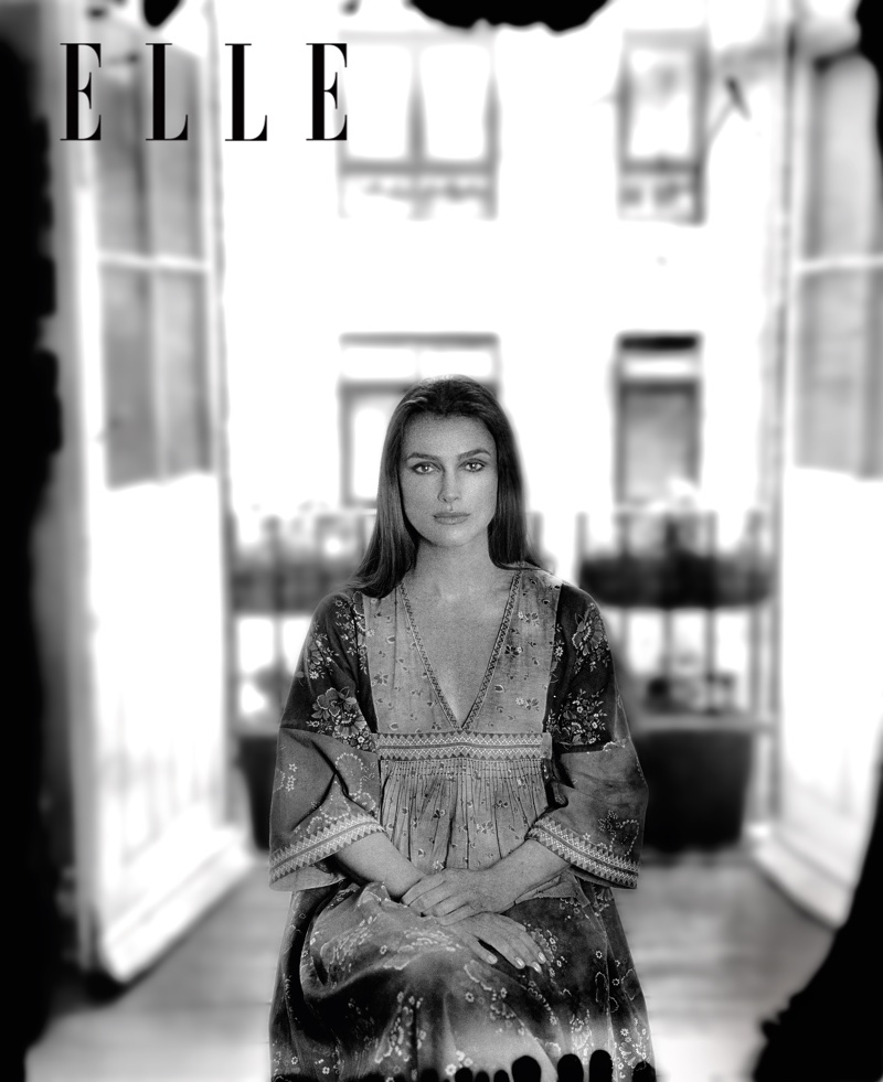 Keira Knightley poses in the November issue of ELLE US