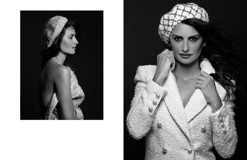 Photographed in black and white, Penelope Cruz fronts Chanel resort 2019 campaign