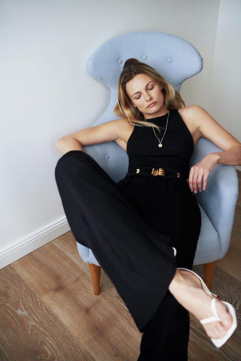 Edita Vilkeviciute Lounges in Zara's New Styles