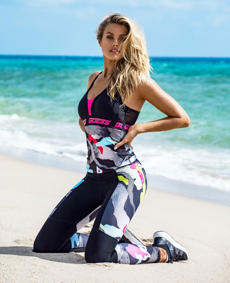 Natalie Roser Sports Guess' Summer 2020 Activewear