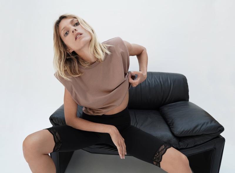 Anja Rubik Exudes Cool in Zara's Summer Looks