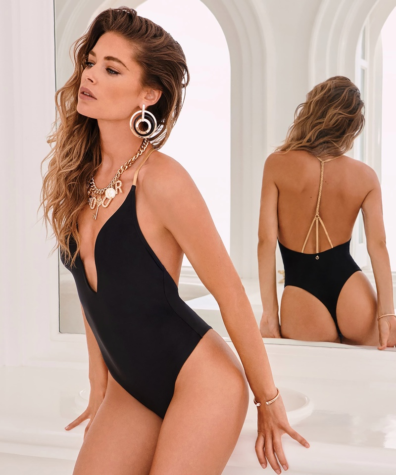 one-piece swimsuit.