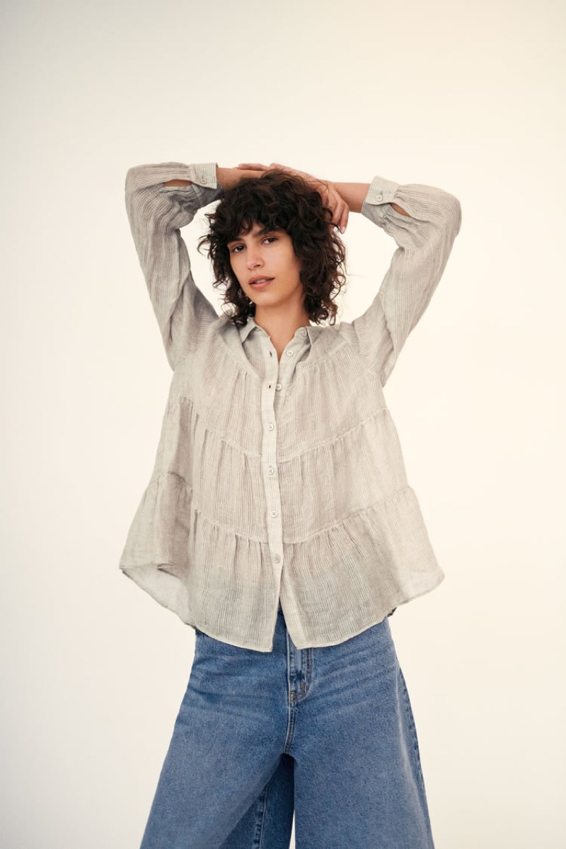 Zara Linen Shirt and Jeans.