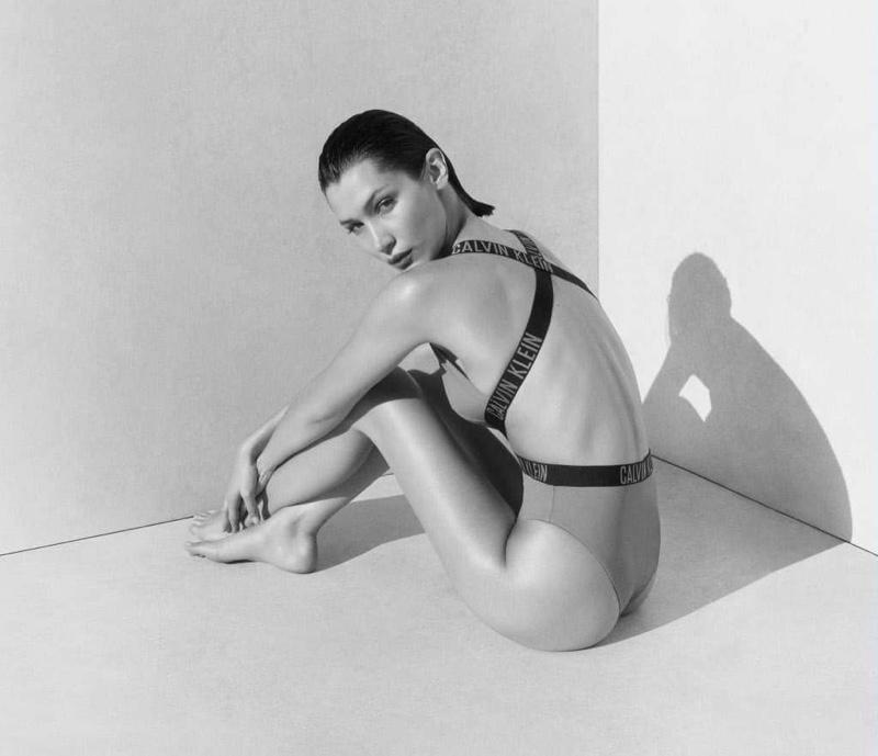 Bella Hadid Dives Into Calvin Klein Swim Campaign