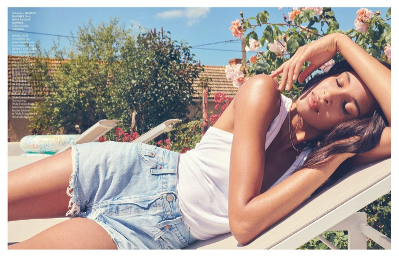 Cindy Bruna Wears Relaxed Summer Style for ELLE France