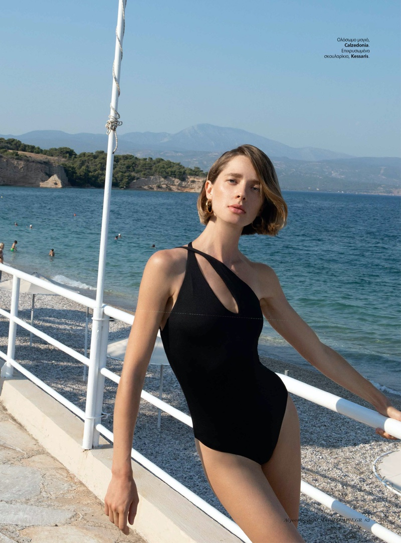 Nata Kas Models Sleek Summer Looks for Marie Claire Greece