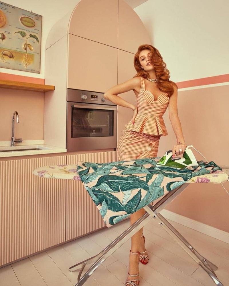 Cintia Dicker Models Domestic Goddess Style for Vanity Fair Italy