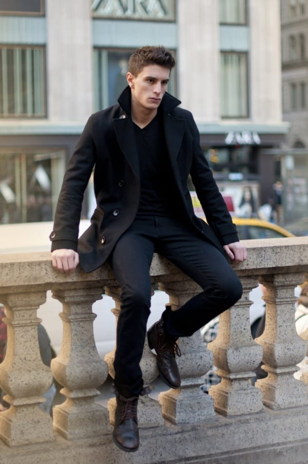 picture Black Style Formal Black Style Shirts For Men super stylish all black outfits for men