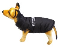 Dog Coat Security Black Puffy S M L XL Waterproof Warm Pet ...