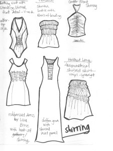 Laura Volpintesta Fashion Flats Sketches Technical Drawings From Designer Garments Use Different Weights Of Felt