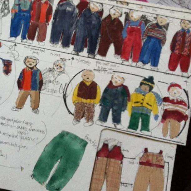 Childrenswear Fashion Illustrations 2 Design Croquis Templates