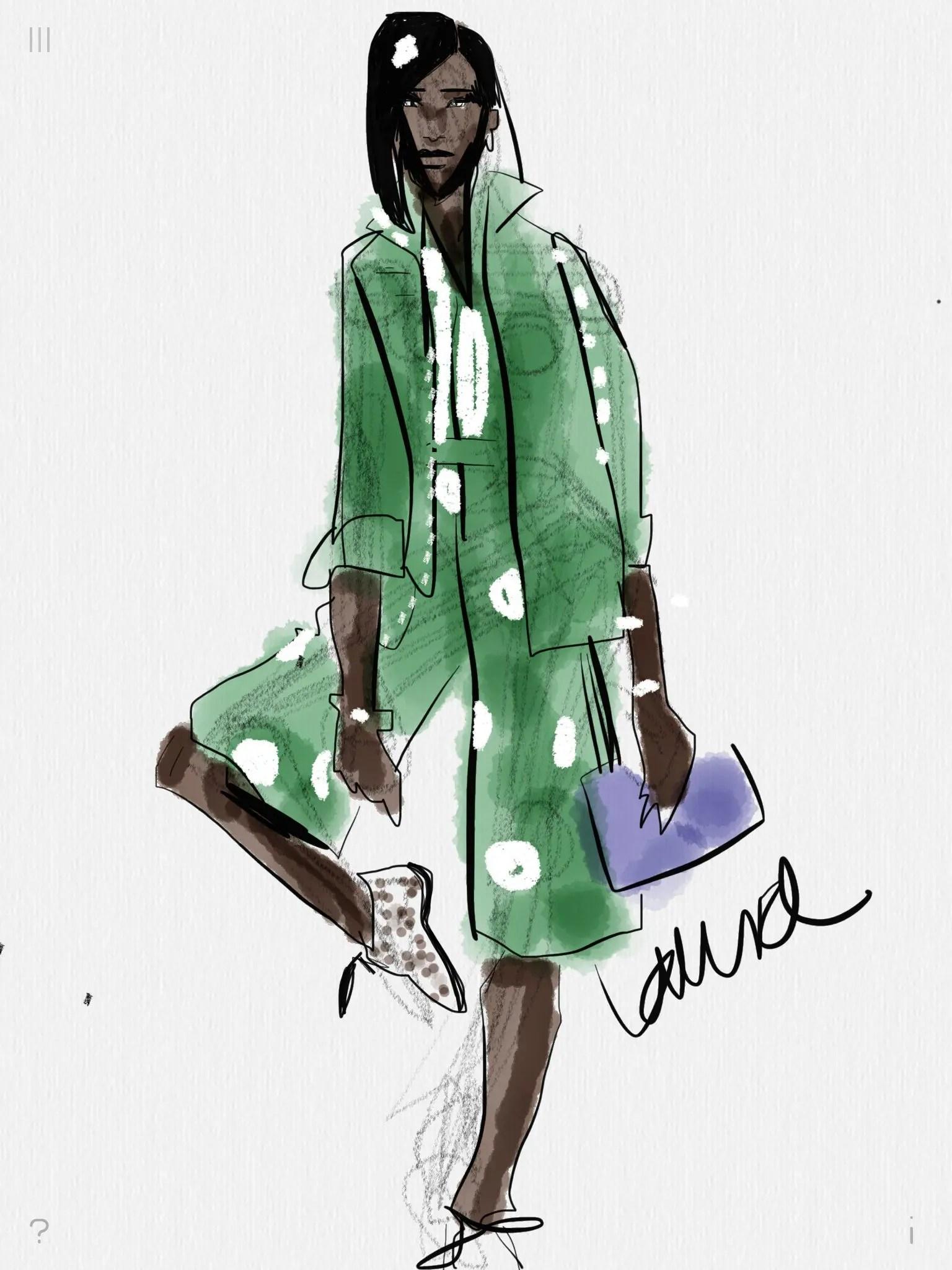 Digital Fashion Sketching With Tayasui Sketches App On Ipad Or Digital Device