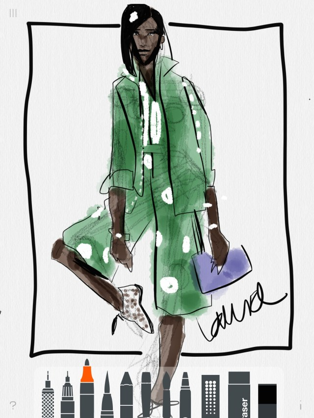 Digital Fashion Sketching With Tayasui Sketches App On Ipad Or Digital Device