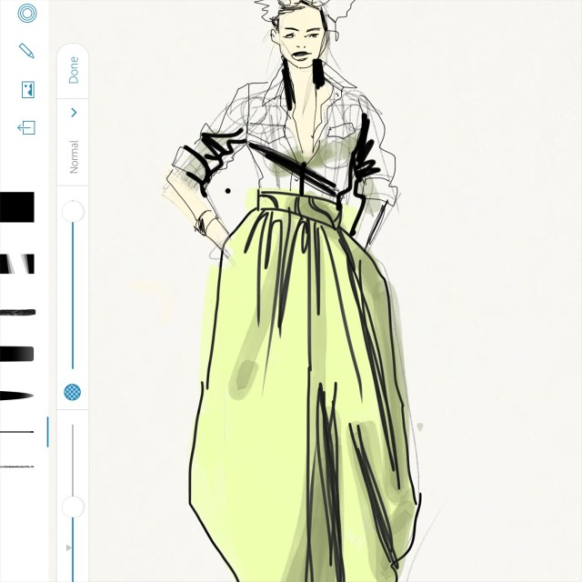 Sketching African Print Fashion Skirt,Laura Volpintesta, Fashion Illustration Tribe