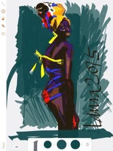 Adobe Draw App for fashion - Laura Volpintesta, FashionIllustrationTribe.com