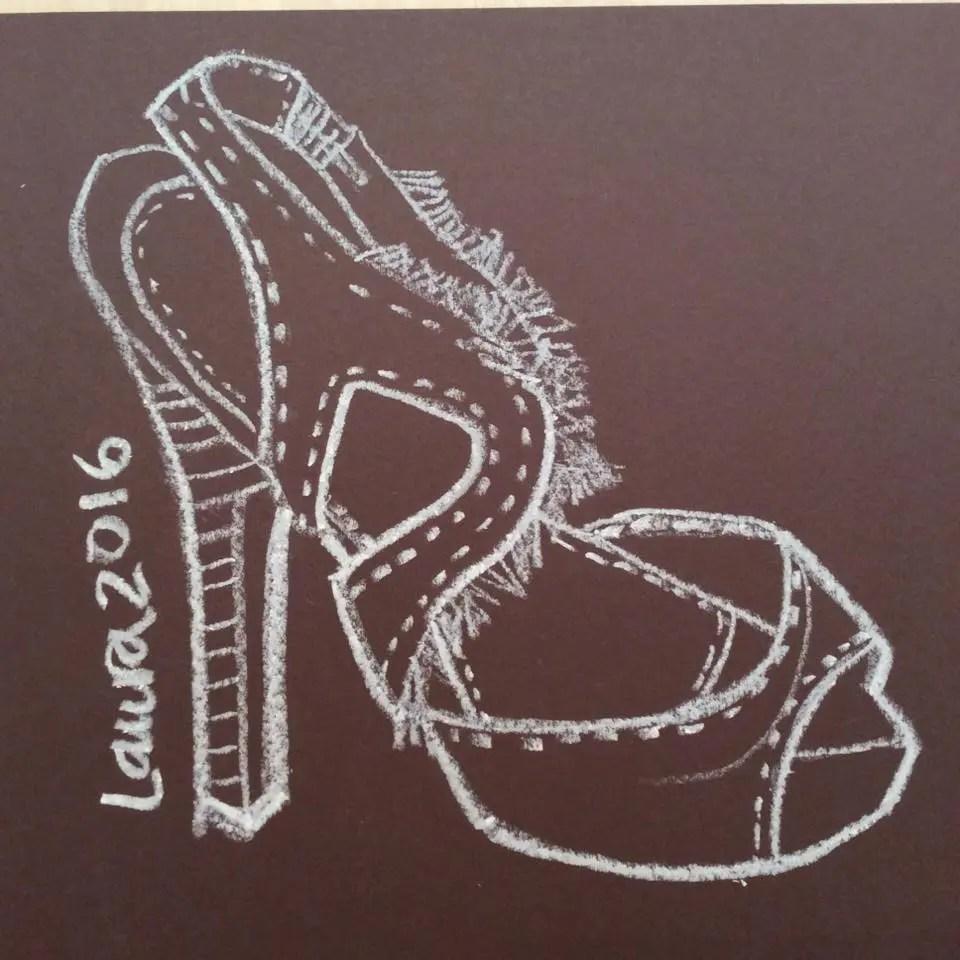 Sketching Fashion Accessories- Shoe Design- Fashion Illustrator Laura Volpintesta Steve Madden Girl Shoes