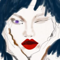 """Fashion Illustrator Laura Volpintesta Digital Fashion Drawing """"ABOUT FACE"""" online course"""
