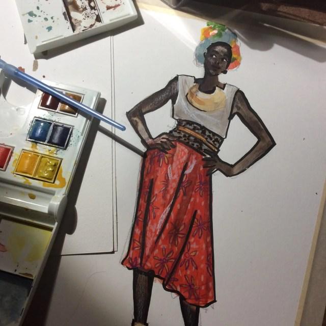 Laura Volpintesta Fashion Illustrator NYC, Parsons