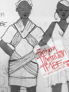 Learn fashion design sketching: Original Fashion design sketches by Laura Volpintesta