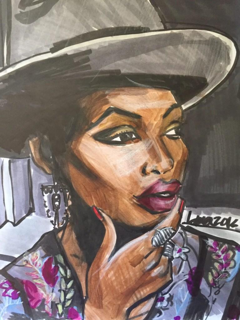 marker sketching- fashion illustration- finding Paola by Laura Volpintesta Fashion Illustrator