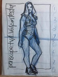 Plus Size Fashion Model drawing lesson