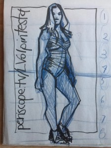 Plus Size Fashion Model drawing lesson