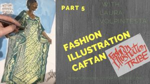 African Print Fashion Illustration, laura Volpintesta, Artisan Apparel Uganda