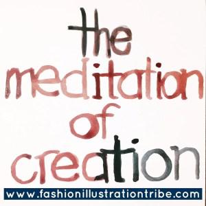 Art sketchbook challenge- the meditation of creation Laura Vopintesta