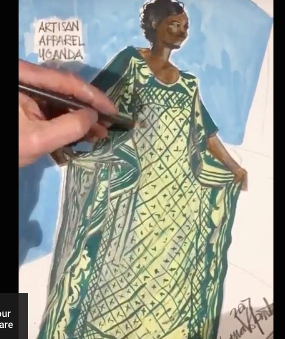 African Print Fashion Illustration