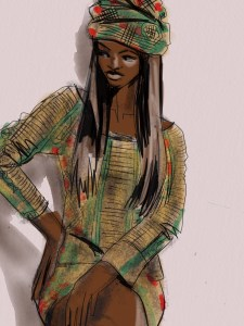 fashion illustration apps by Laura Volpintesta
