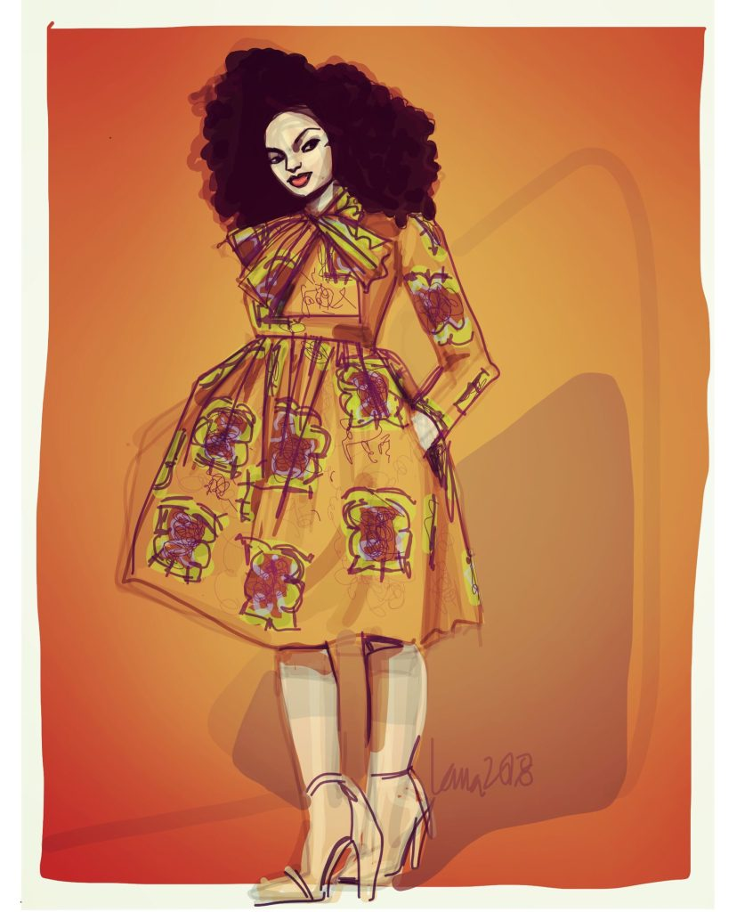How To Draw Ankara Fashion Llustration African Print