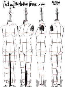 Digital Fashion Design Sketching On The Dress Form Fashionillustrationtribe