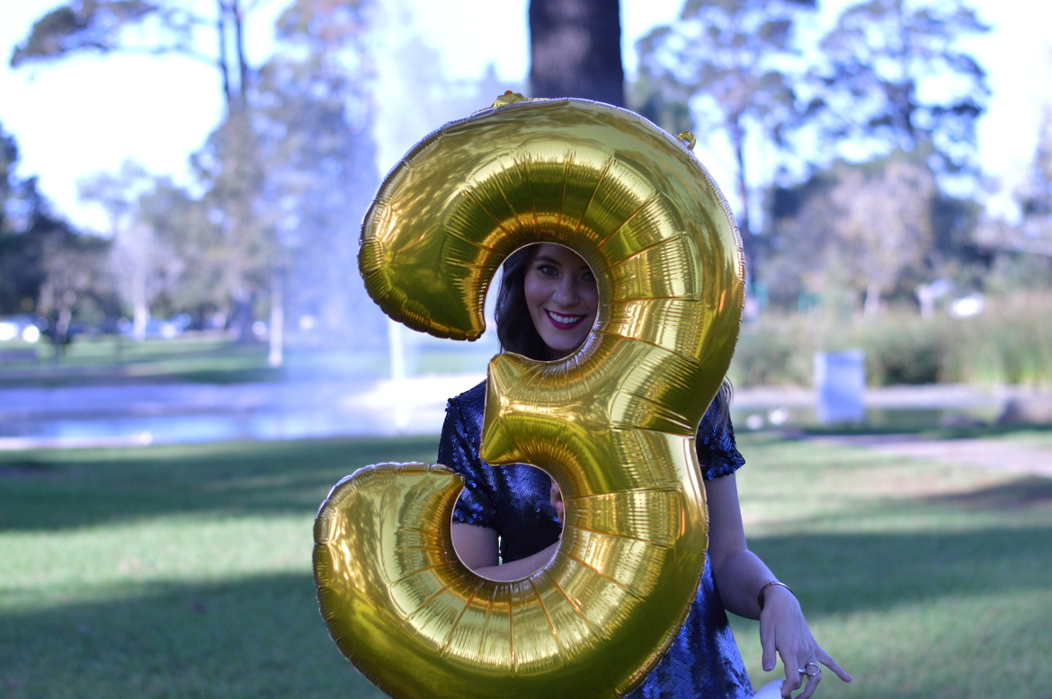 HAPPY BLOGIVERSARY! + WELCOME TO THE NEW FASHION IN FLIGHT by Fashion in Flight gold balloon sequin blouse three years