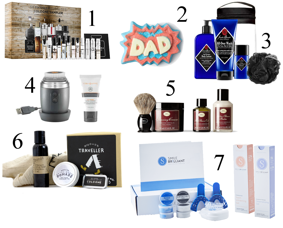 7 UNIQUE FATHER'S DAY GIFTS + GIVEAWAY by Fashion in Flight sephora cologne sampler lush bath bomb jack black skin care kit clarisonic alpha shave kit traveller kit for men smile brilliant parents presents ashleigh jean lopes colorado denver colorado springs blogger