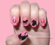cute horse nail art design fashionisers