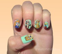 20 Cute Cartoon Inspired Nail Art Designs